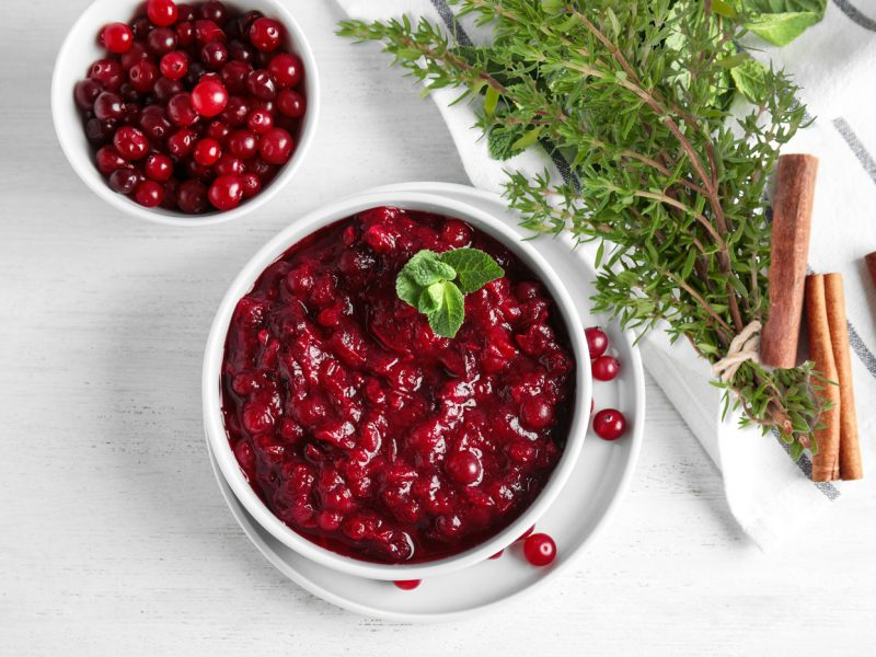 Cranberry Sauce with Orange Thyme Recipe Photo